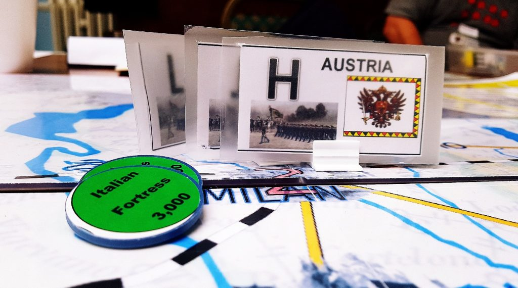 Austria besieging Milan in the 1866 And All That megagame