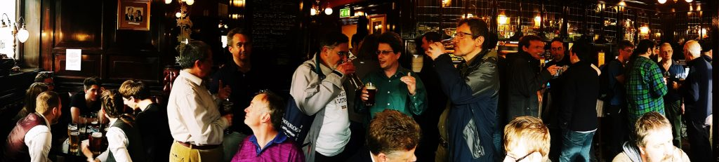 Post-game pub after the 1866 And All That megagame