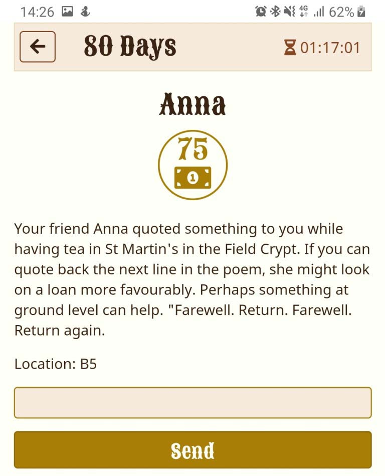 Solving Anna - 80 Days A Real World Experience review by BeckyBecky Blogs