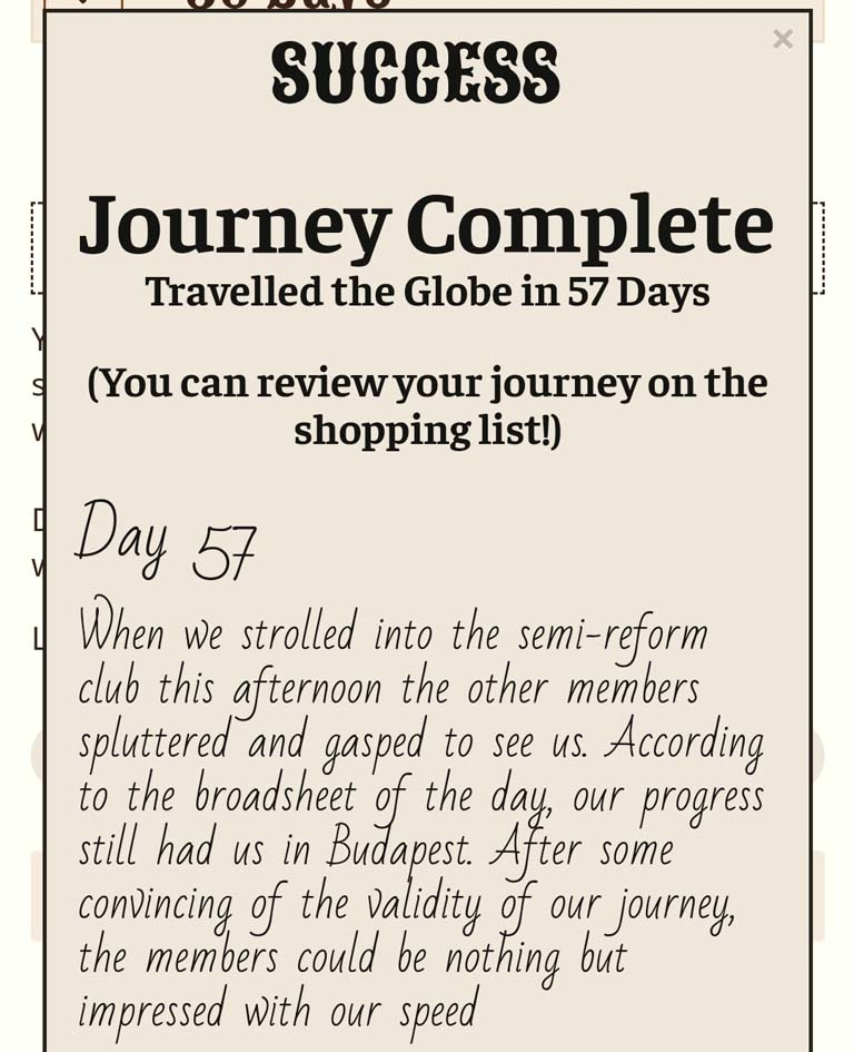 Around the world in 57 days - 80 Days A Real World Experience review by BeckyBecky Blogs