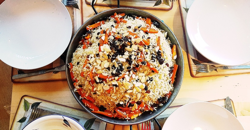 Afghan goat pilaf to accompany A Distant Plain board game