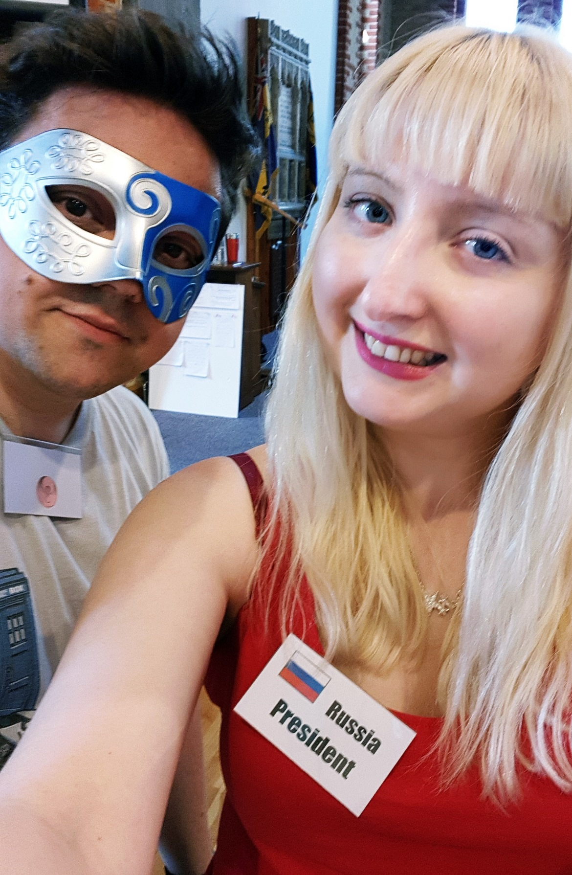 Alien selfie - Arrival Megagame After Action Report by BeckyBecky Blogs