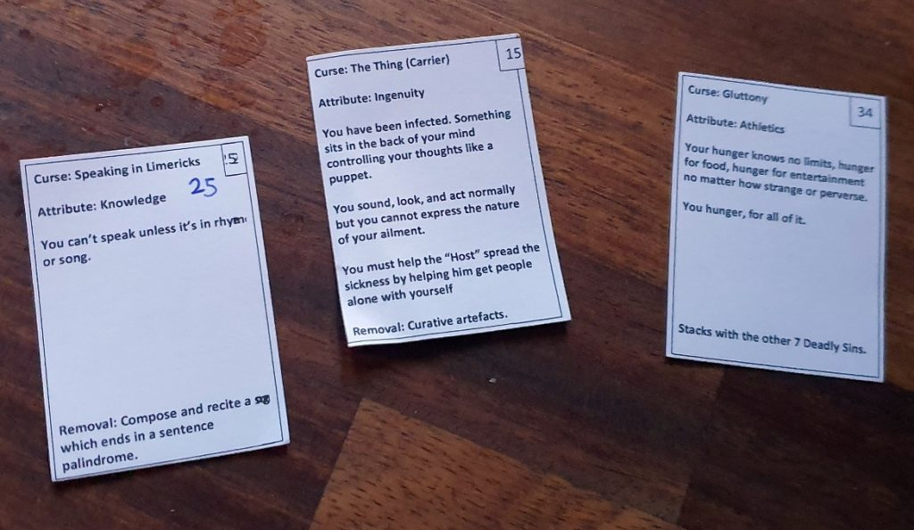 Curses - It Belongs in a Museum Megagame Report by BeckyBecky Blogs