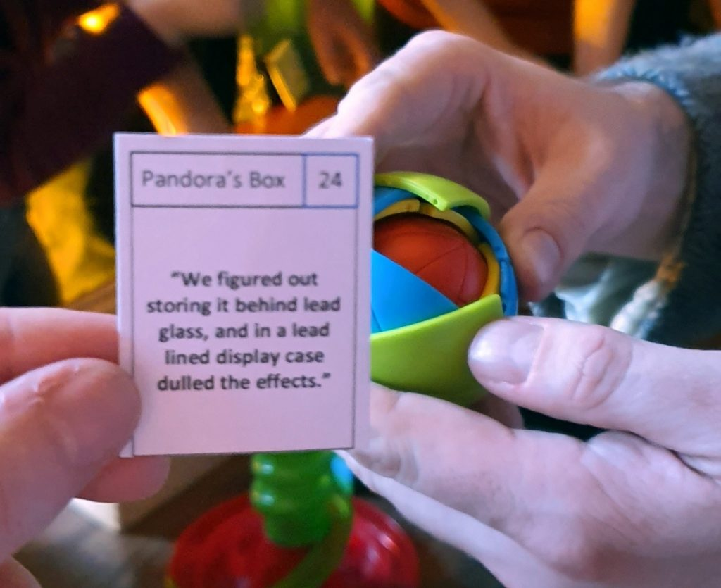 Pandora's Box - It Belongs in a Museum Megagame Report by BeckyBecky Blogs