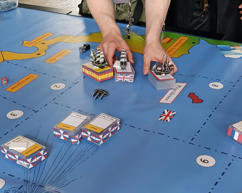 Movement on the map - Buccaneer Megagame After Action Report by BeckyBecky Blogs