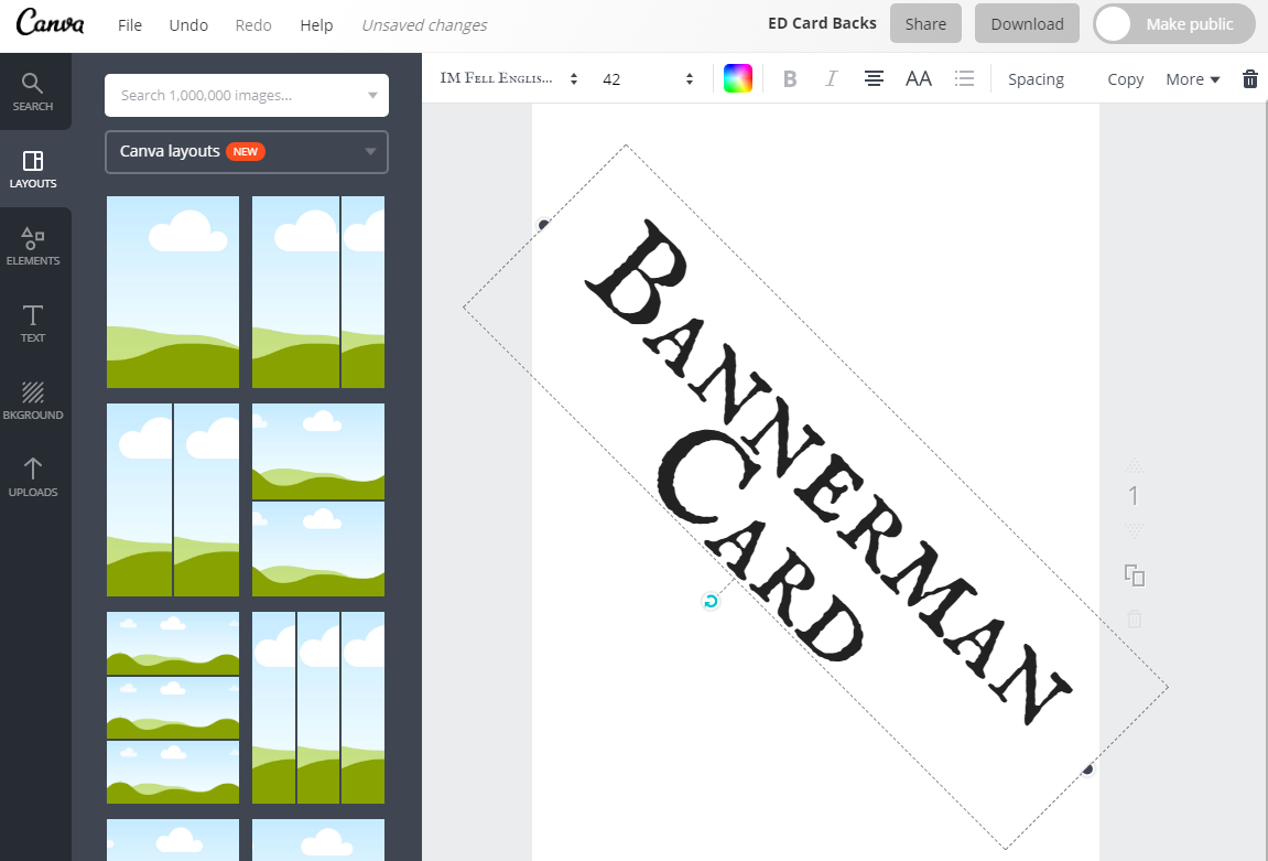 Making Bannerman Cards - Using Canva to create graphics for your megagame