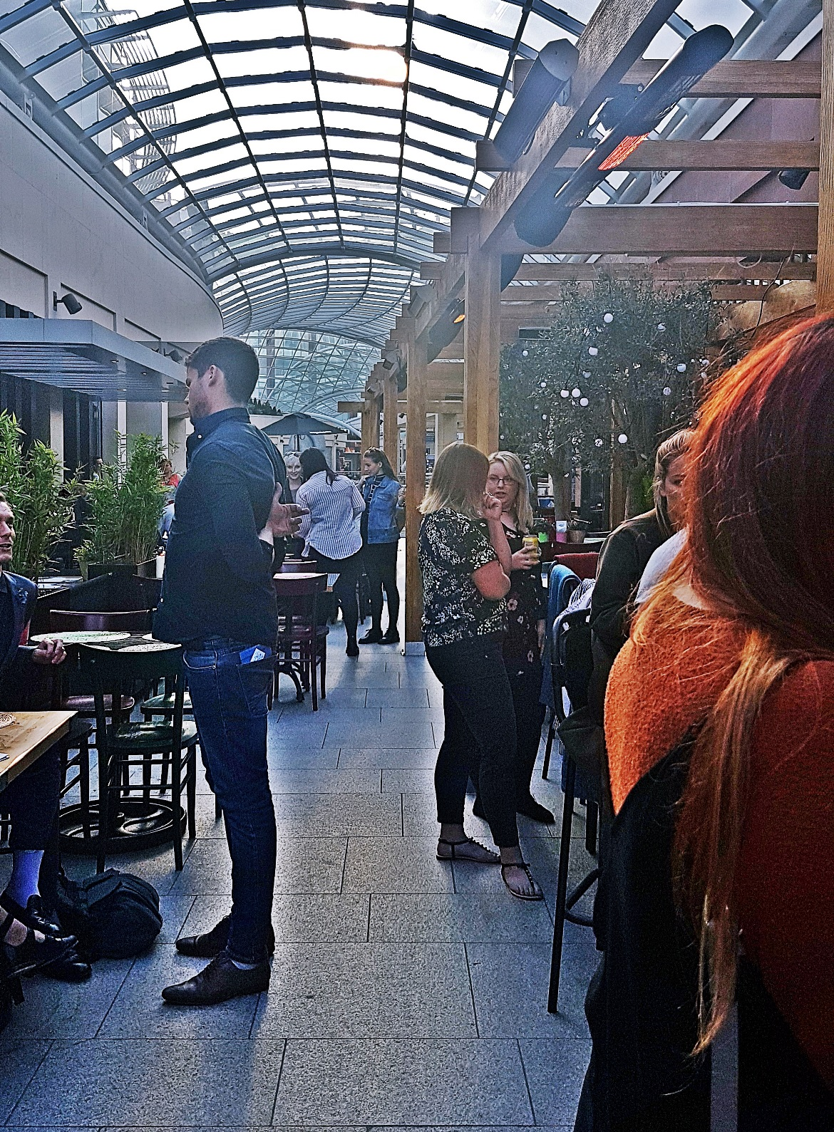 Indoor terrace in Trinity Leeds - Cielo Blanco Social Summers, review by BeckyBecky Blogs