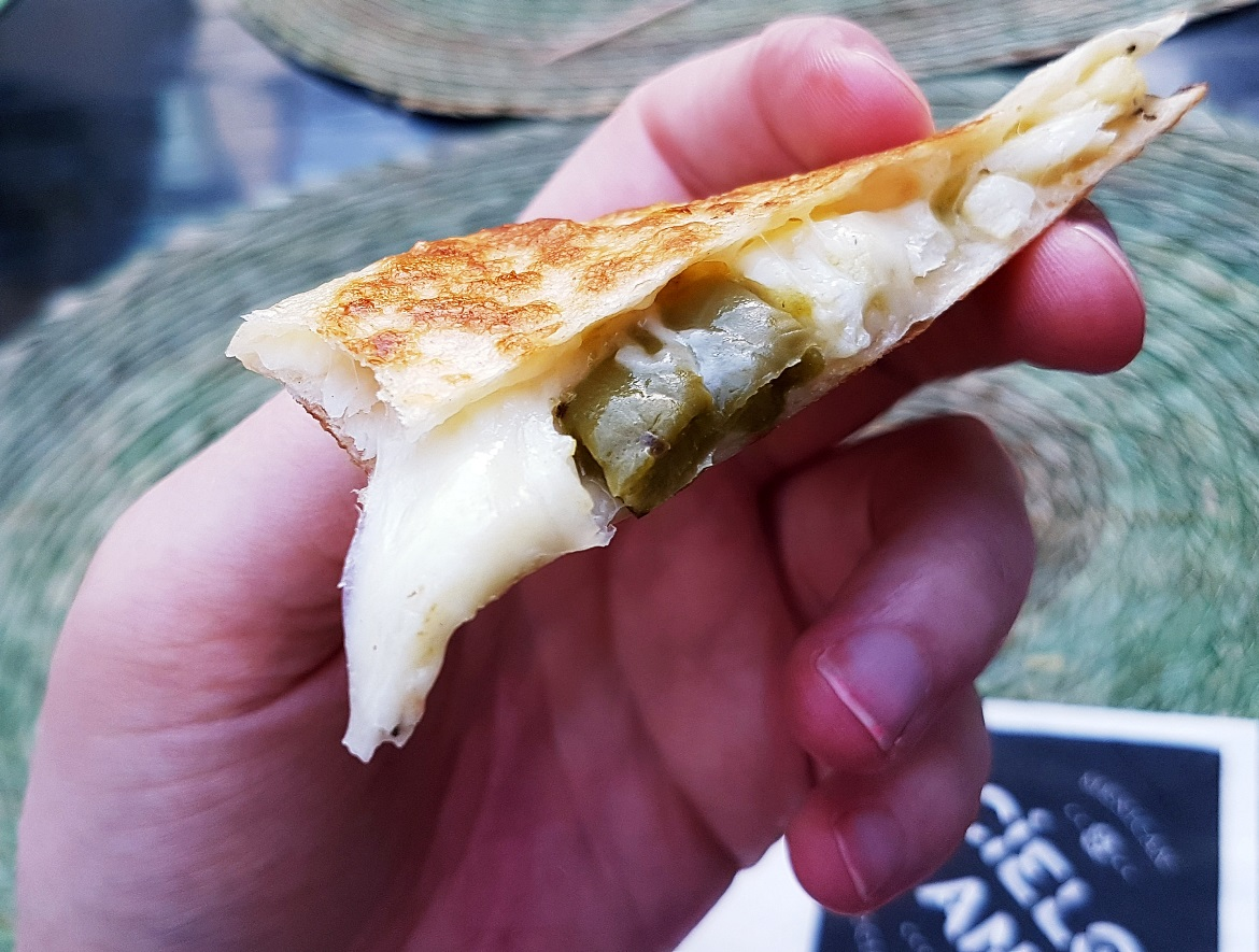 Cactus and cauliflower quesadilla - Cielo Blanco Social Summers, review by BeckyBecky Blogs