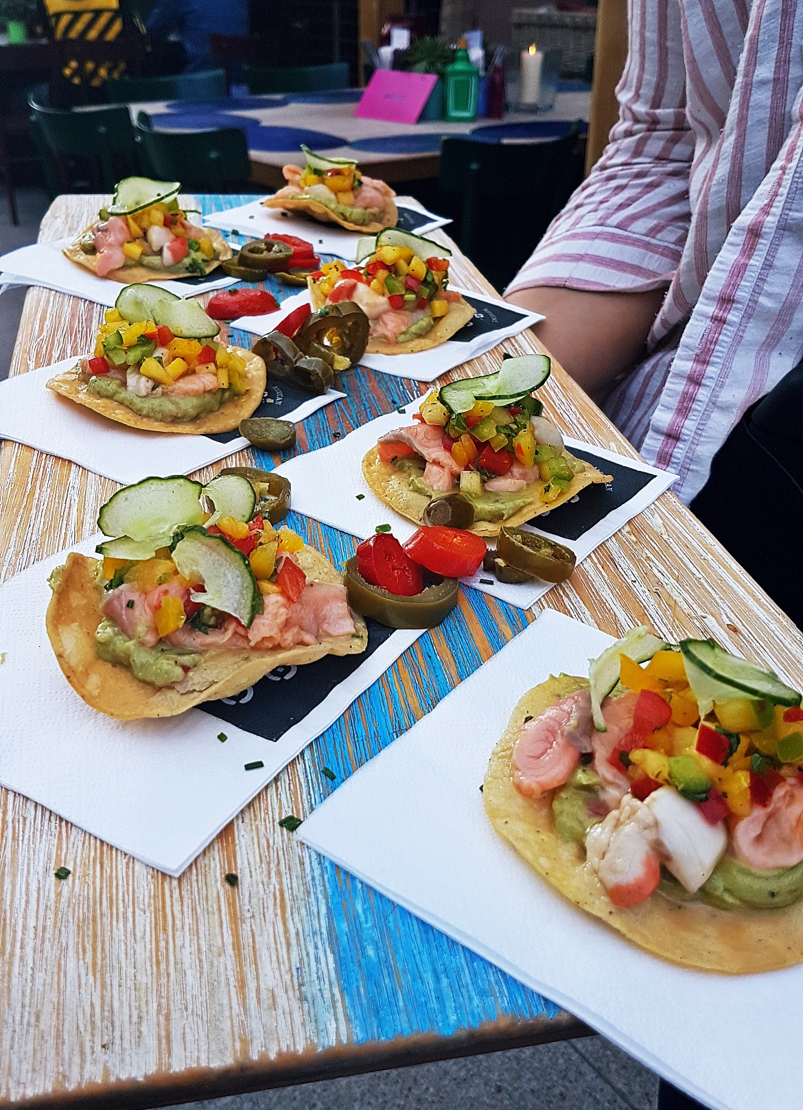 Ceviche Tostadas - Cielo Blanco Social Summers, review by BeckyBecky Blogs