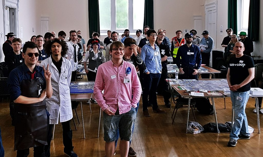 Players raring to go - City of Shadows Megagame After Action Report by BeckyBecky Blogs