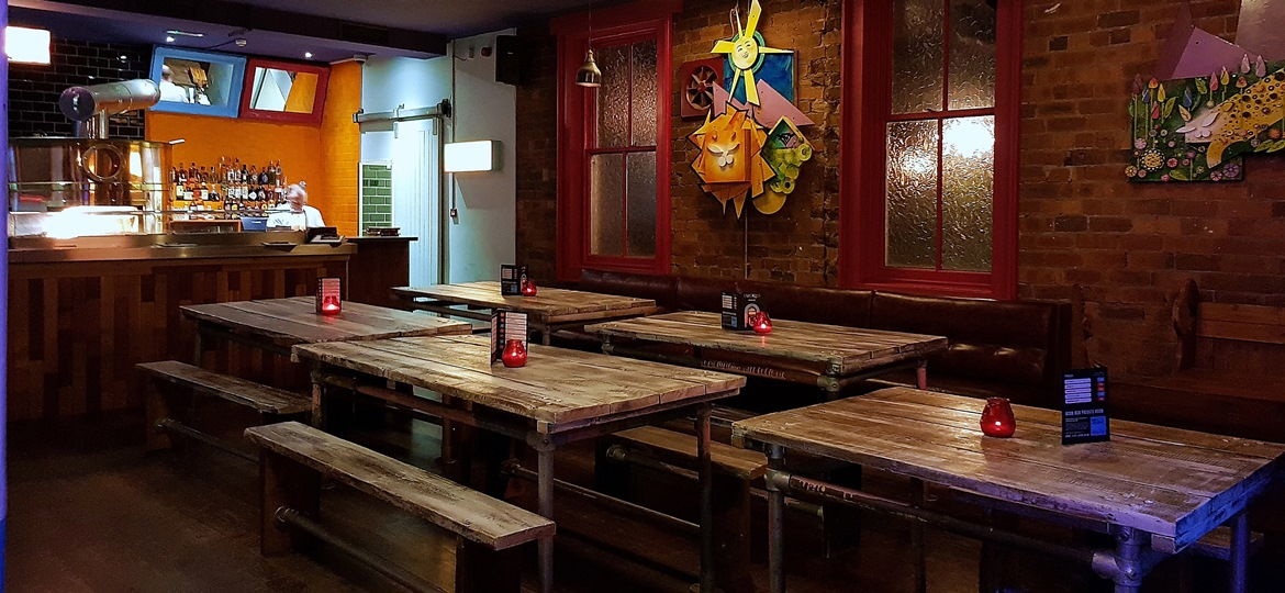 Pizza oven and picnic tables - Cuckoo, the newest cocktail and pizza bar on Call Lane in Leeds - Bar Review by BeckyBecky Blogs
