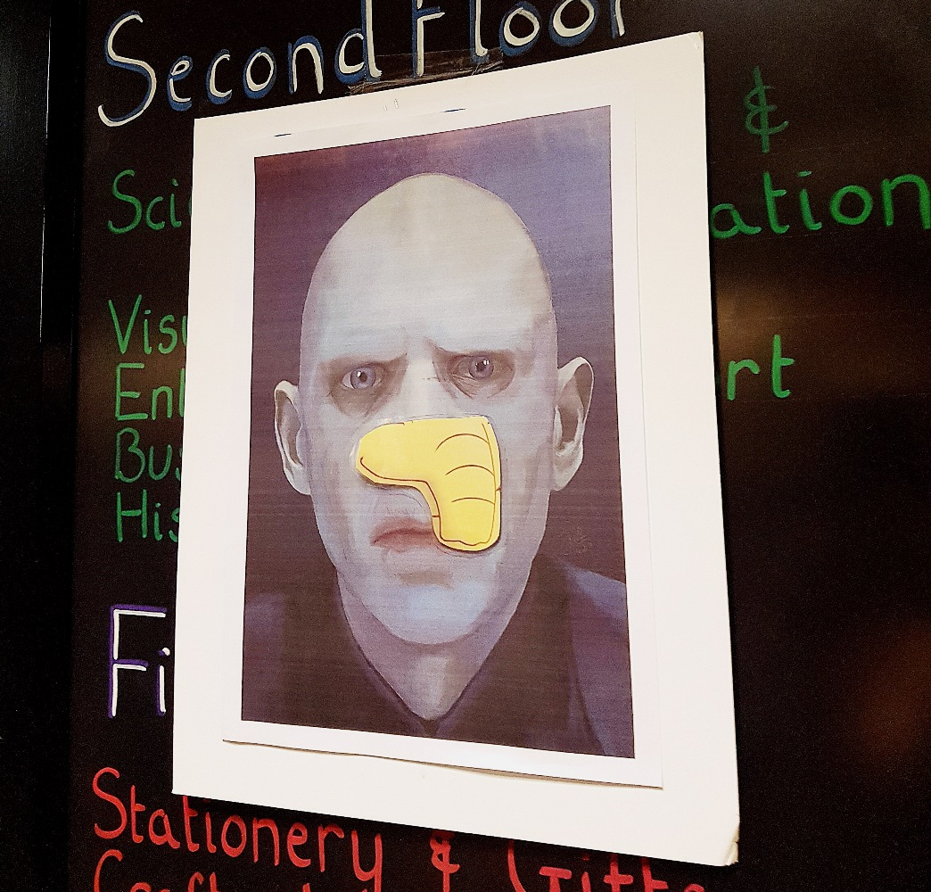 Pin the Nose on Voldemort at Cursed Child Book Launch at Waterstones Leeds