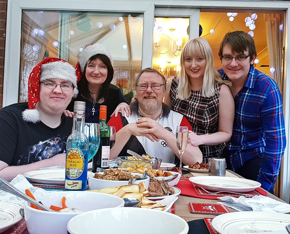 Our Christmas dinner table - December Monthly Recap by BeckyBecky Blogs