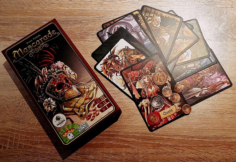 Masquerade, tabletop card game - December Monthly Recap by BeckyBecky Blogs