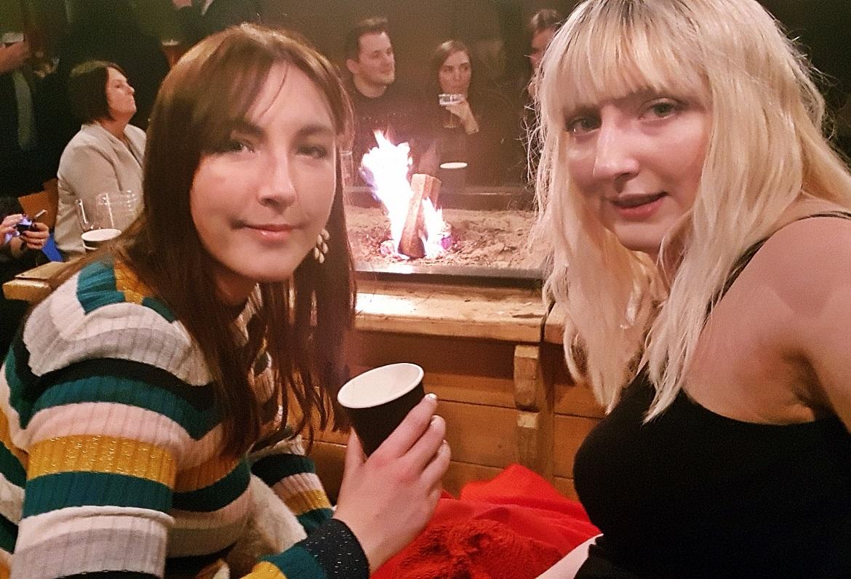 Drinks inside the Tipi Tent - December Monthly Recap by BeckyBecky Blogs