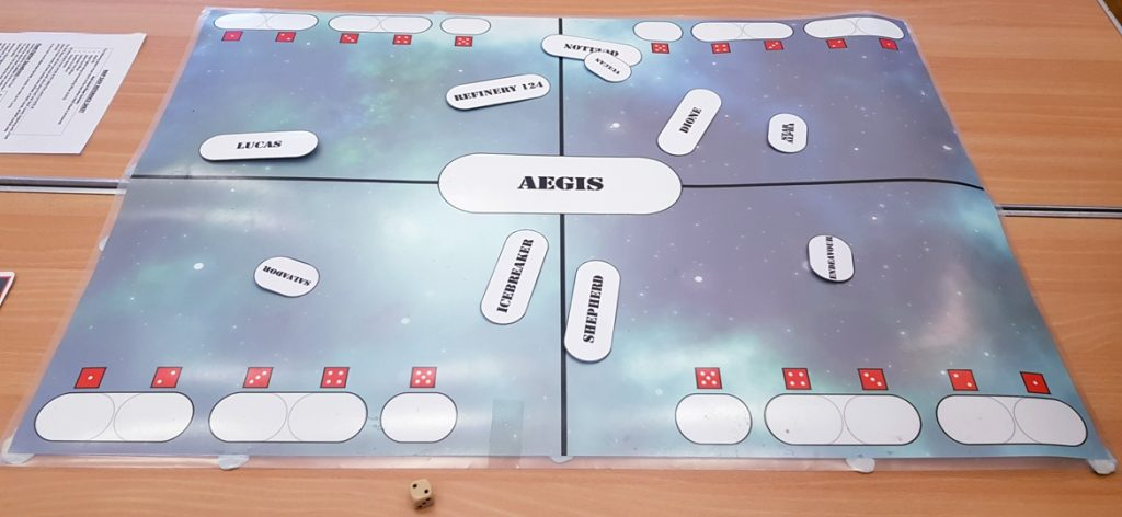 Map table - Den of Wolves megagame after action report by BeckyBecky Blogs