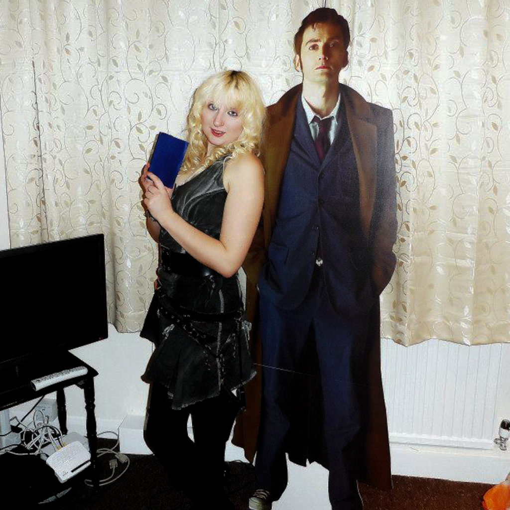 Cosplaying as River Song with a Tenth Doctor cut-out - My Top Doctor Who Episodes by BeckyBecky Blogs