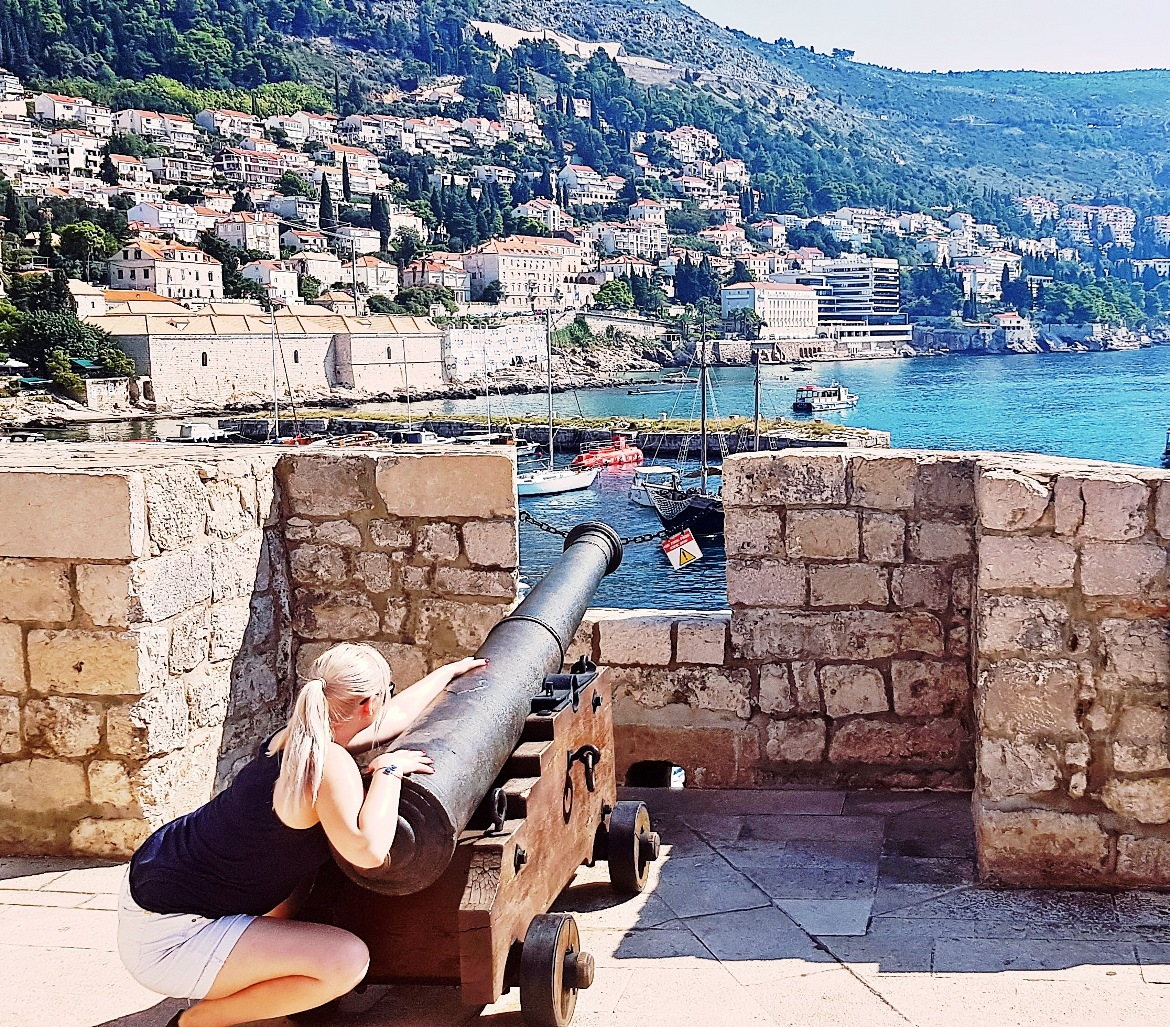 Cannon on Dubrovnik City Walls - Croatia in Photographs by BeckyBecky Blogs