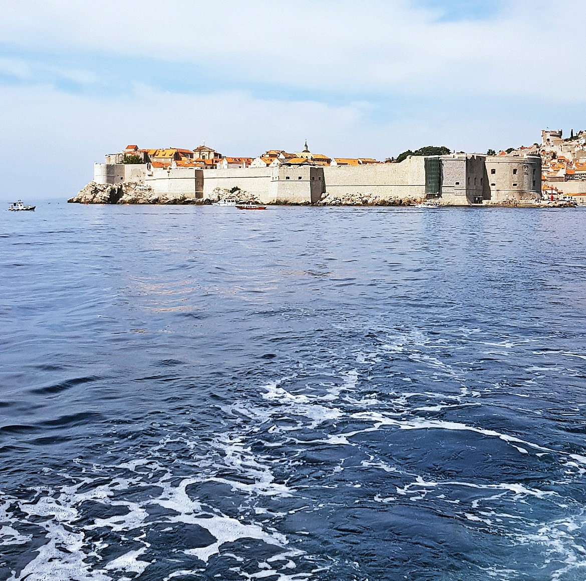 View back to Dubrovnik from Lokrum ferry - Sightseeing in Dubrovnik, Croatia - Top Travel Tips by BeckyBecky Blogs