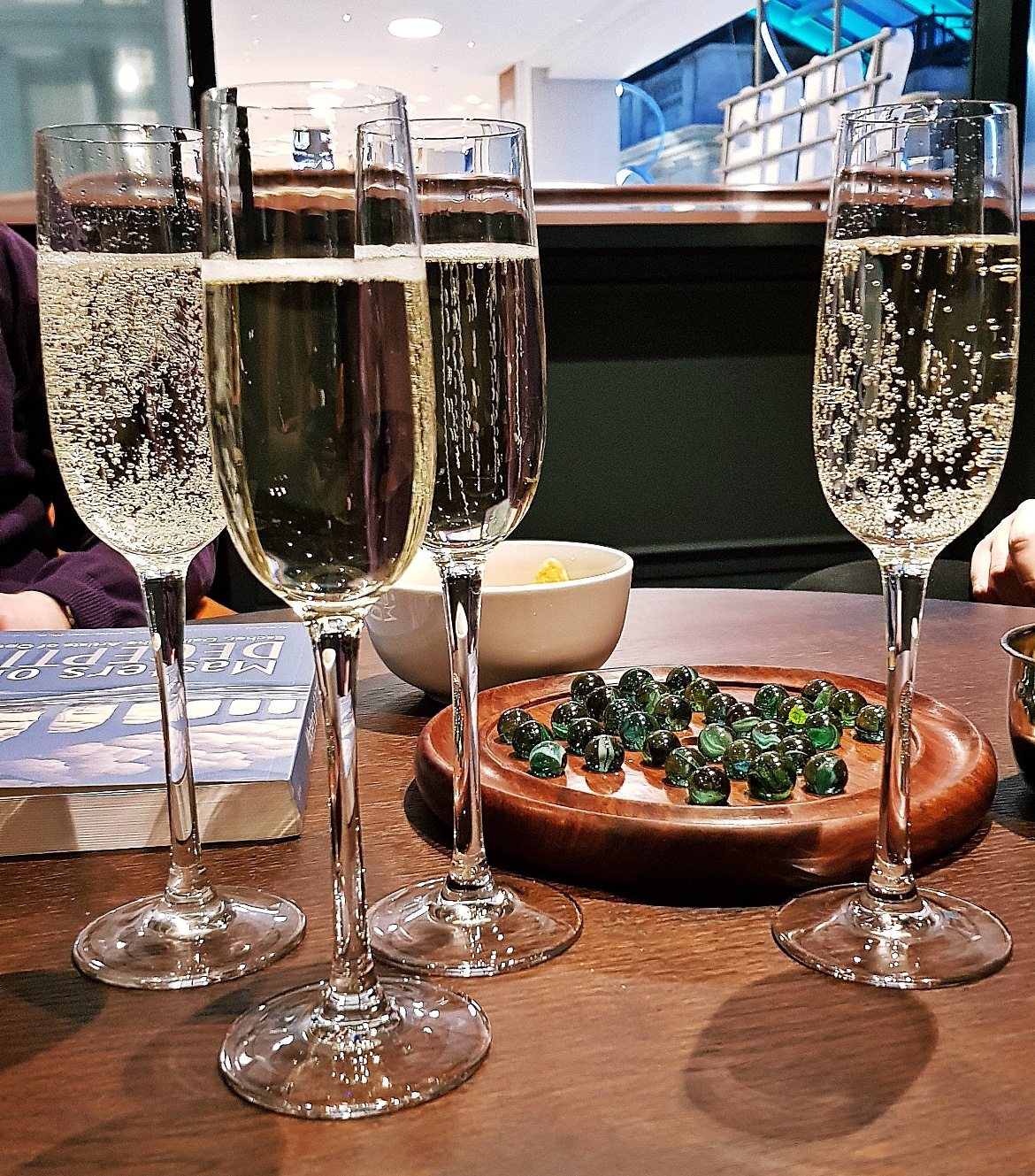 Celebratory prosecco - Our Finest Hour, escape room by Escape Hunt Leeds, review by BeckyBecky Blogs