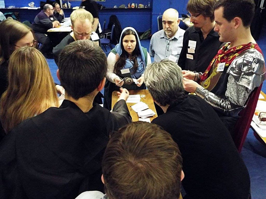 Conversation at the Everybody Dies Megagame