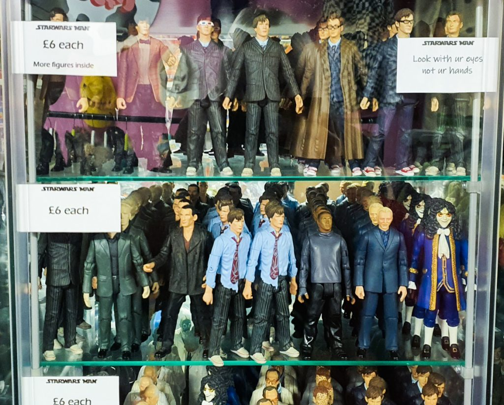 Doctor Who figurines in Affleck's - Exploring Manchester's geek scene with BeckyBecky Blogs