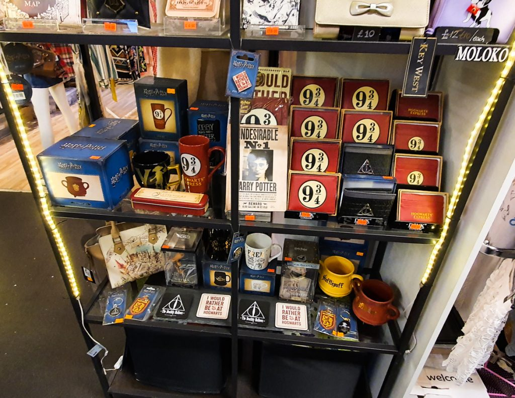 Harry Potter memorabilia in Affleck's - Exploring Manchester's geek scene with BeckyBecky Blogs