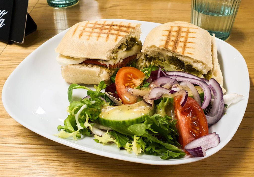 Panini from Urban Grind Cafe in Affleck's - Exploring Manchester's geek scene with BeckyBecky Blogs