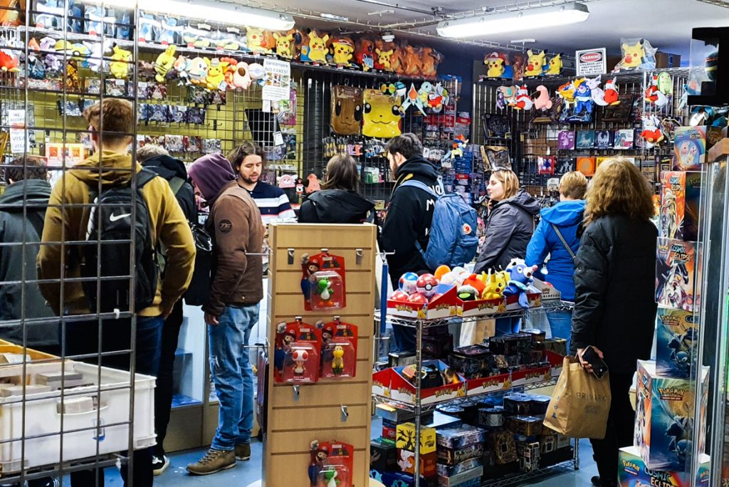 Pokemon shop in Affleck's - Exploring Manchester's geek scene with BeckyBecky Blogs