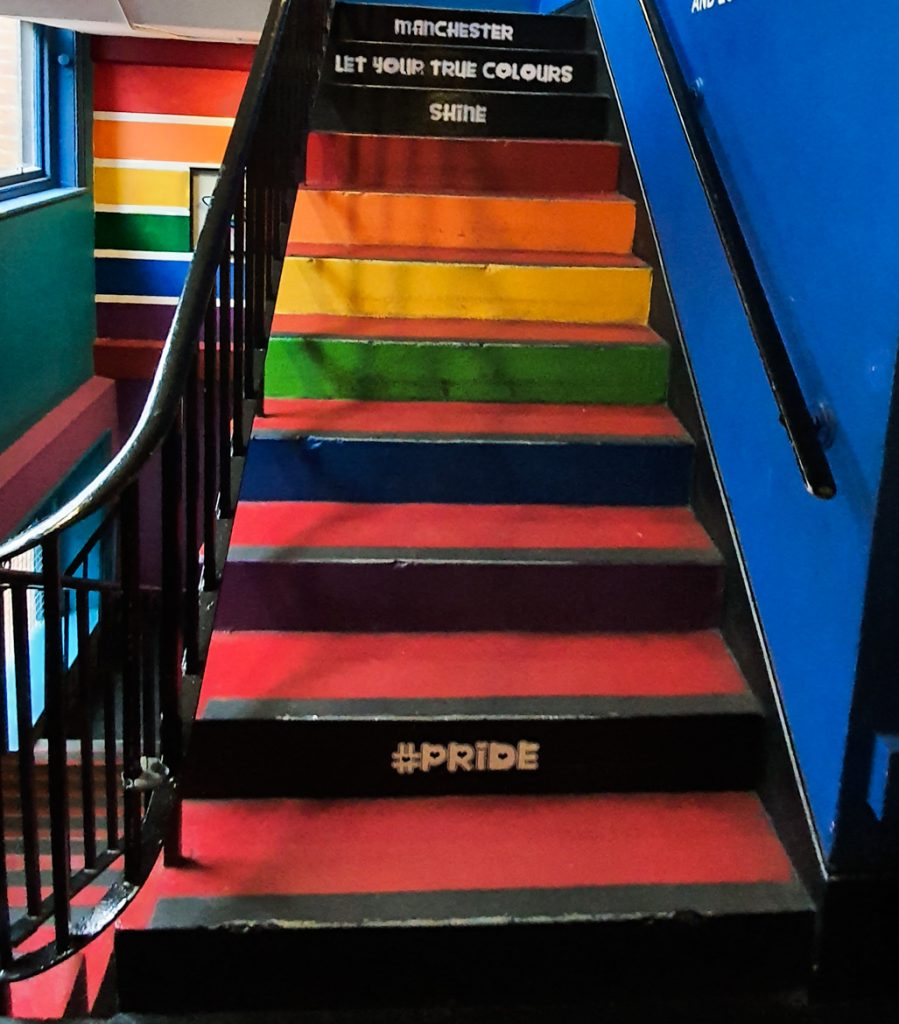 Stairs in Affleck's - Exploring Manchester's geek scene with BeckyBecky Blogs