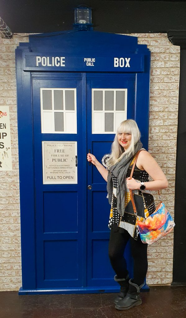 Outside the TARDIS in Affleck's Manchester - My Top Doctor Who Episodes by BeckyBecky Blogs