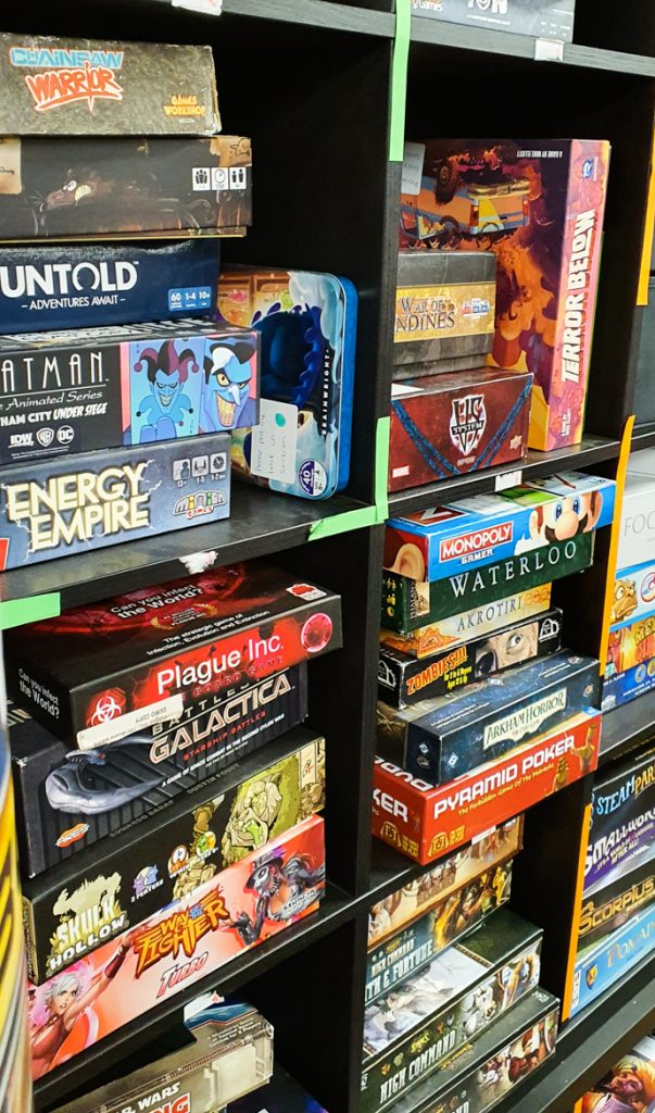 Board game library at FanBoy 3 - Exploring Manchester's geek scene with BeckyBecky Blogs