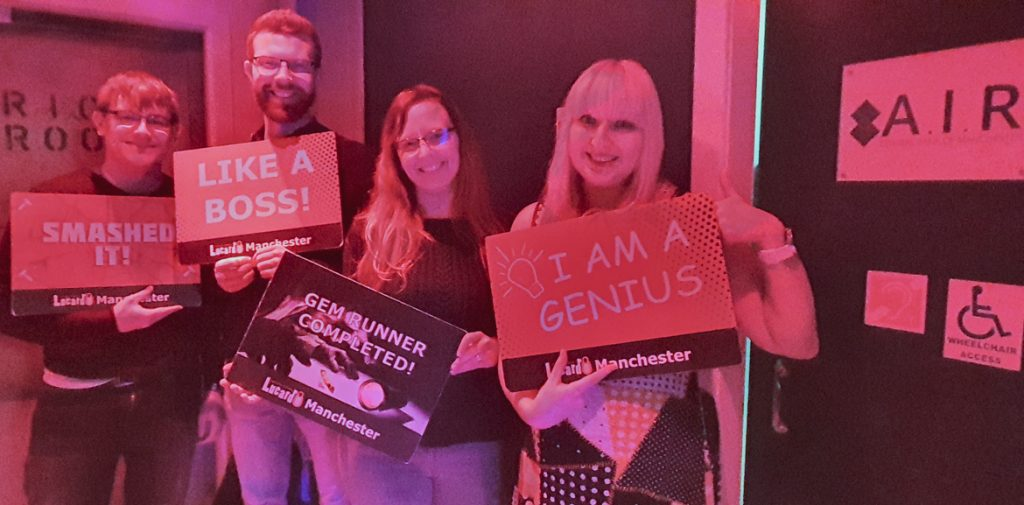 Success photo - Gem Runner escape room by Lucardo Manchester, review by BeckyBecky Blogs
