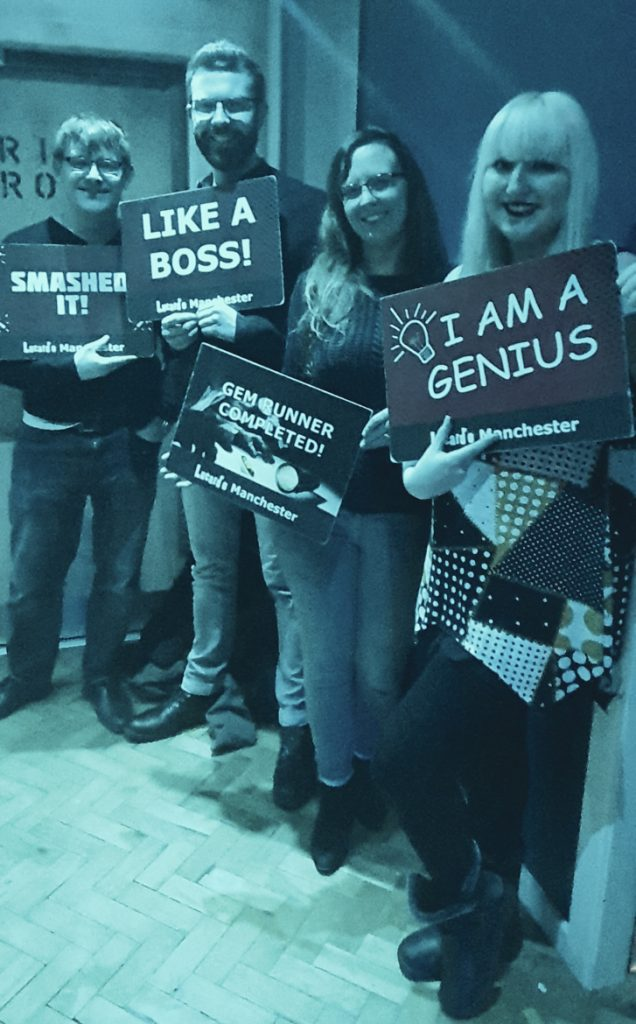 Success photo at Gem Runner, escape room by Lucardo Manchester  - February 2020 Monthly Recap by BeckyBecky Blogs