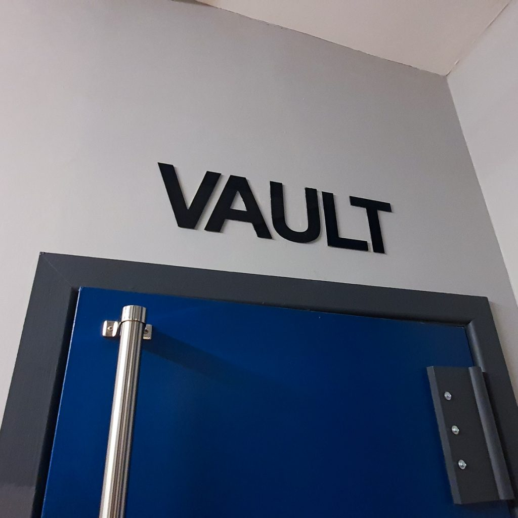 The vault - Gem Runner escape room by Lucardo Manchester, review by BeckyBecky Blogs