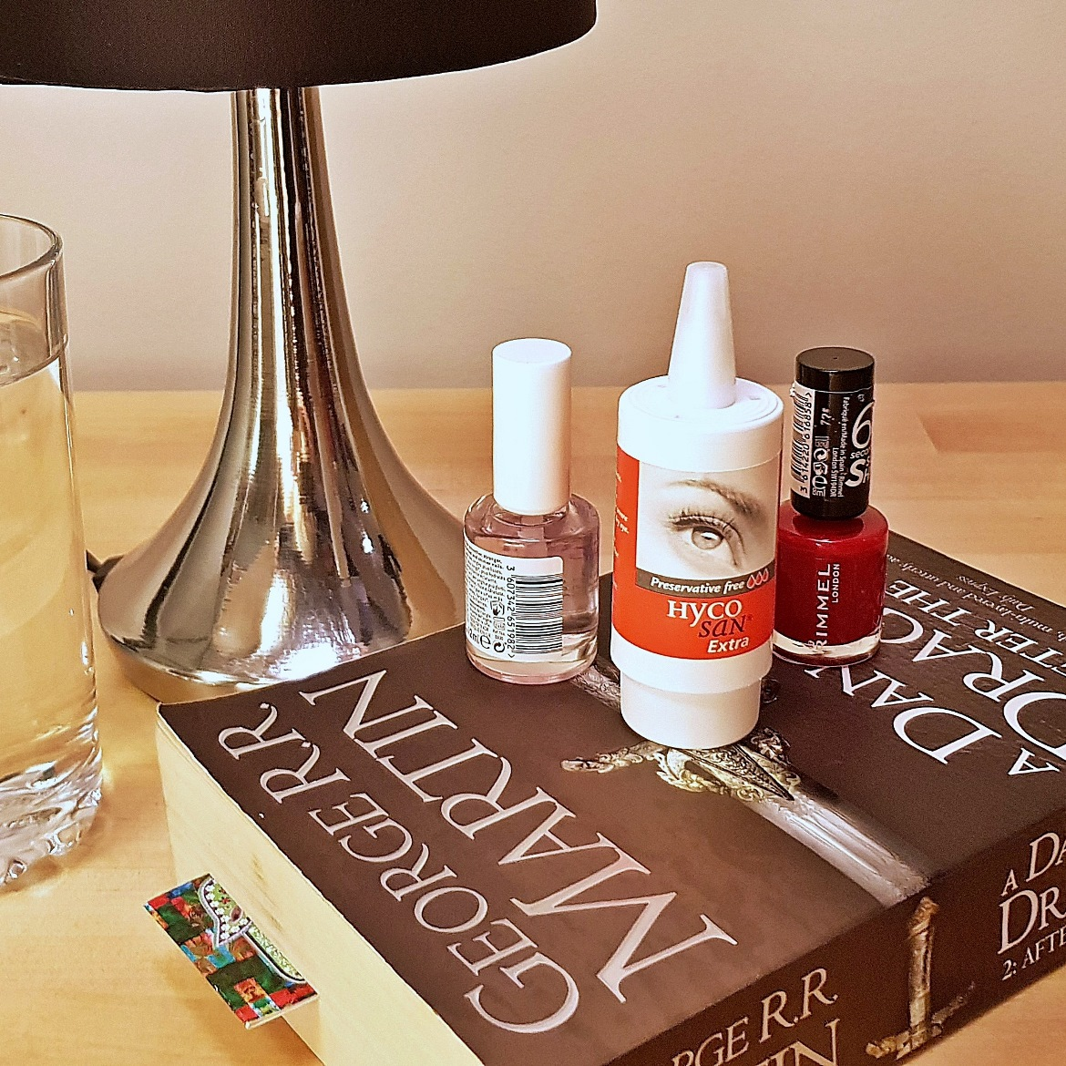 Eyedrops on my bedside table - Eye Dryness and my Addiction to Screens