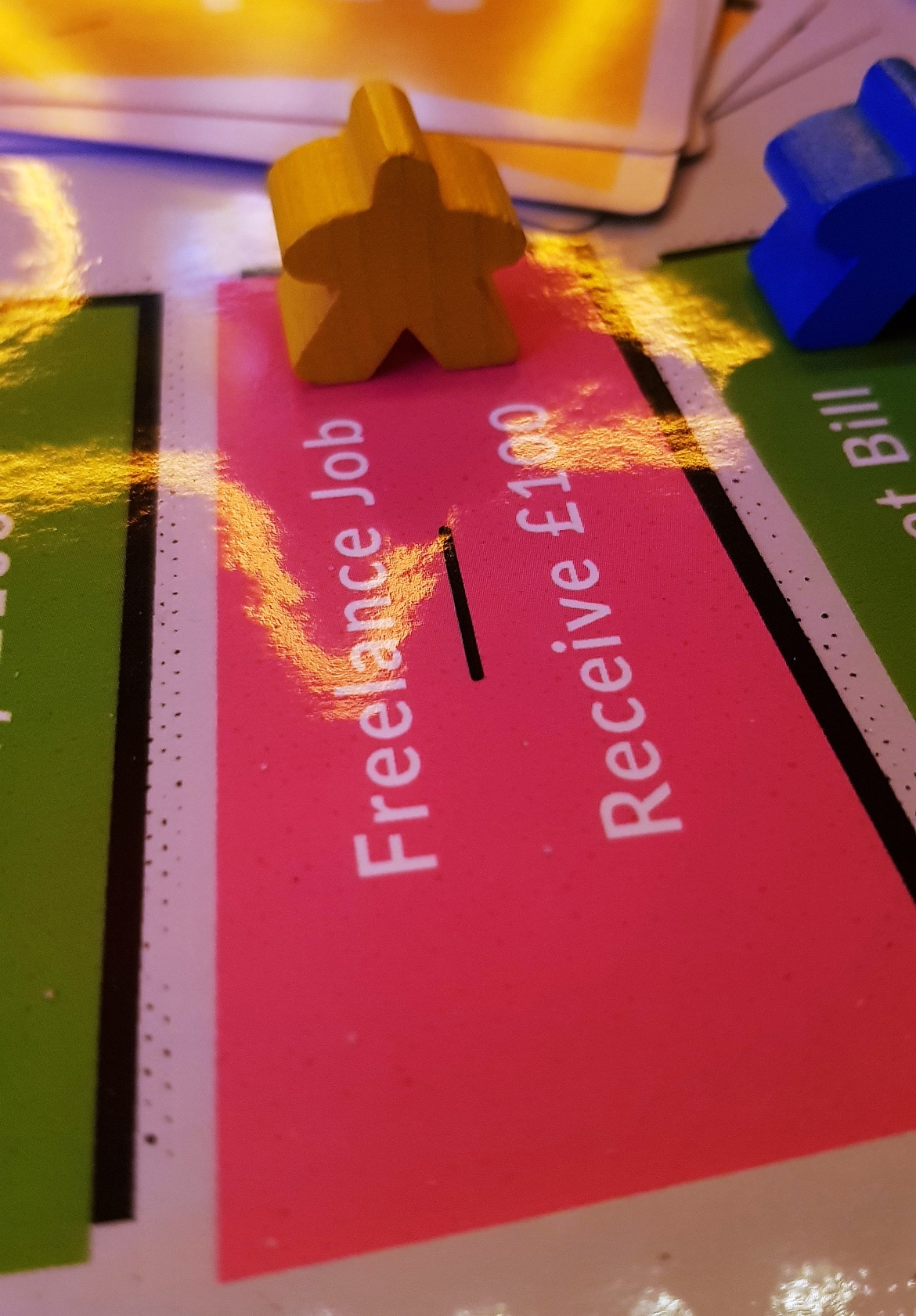 Freelance job space - giffgaff gameplan's Spend or Save boardgame by BeckyBecky Blogs
