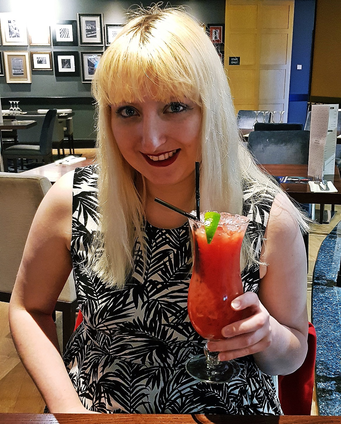 Strawberry daiquiri - Grosvenor Casino Leeds review by BeckyBecky Blogs