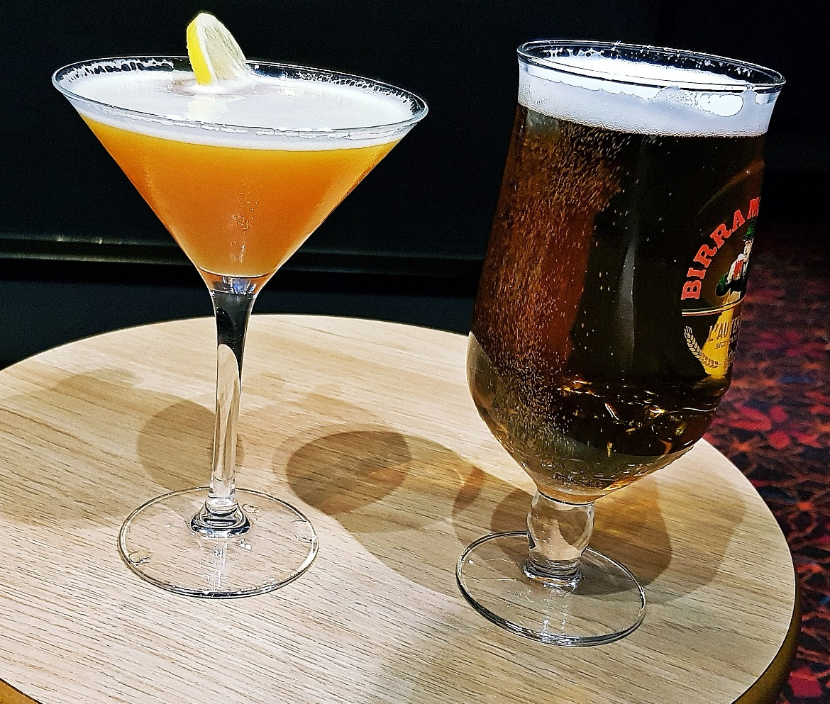 Passionfruit martini and beer - Grosvenor Casino Leeds review by BeckyBecky Blogs