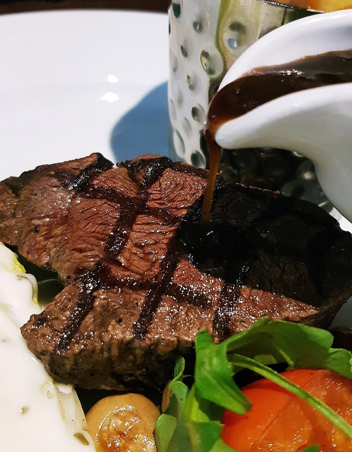 Fillet steak with red wine sauce - Grosvenor Casino Leeds review by BeckyBecky Blogs