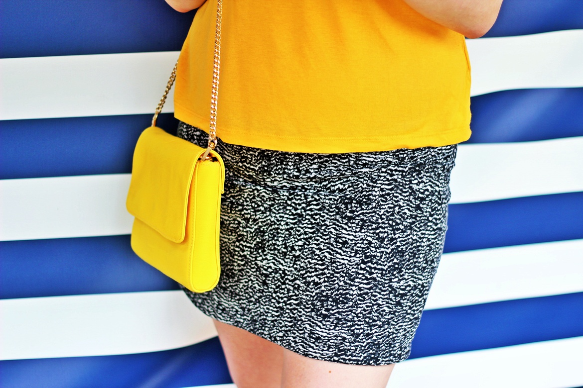 Little yellow bag on photo shoot with Laura Haley - Tune in with Joy the Store, Leeds shop review by BeckyBecky Blogs