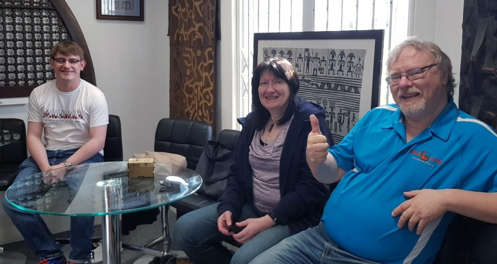 Waiting room - Follow in my Footsteps by Kanyu Escape, Leeds escape room review by BeckyBecky Blogs