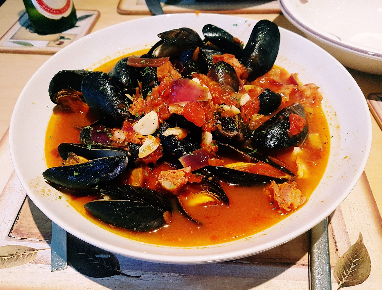 Chorizo and mussel bouillabaisse, made with produce from Kirkgate Market in Leeds