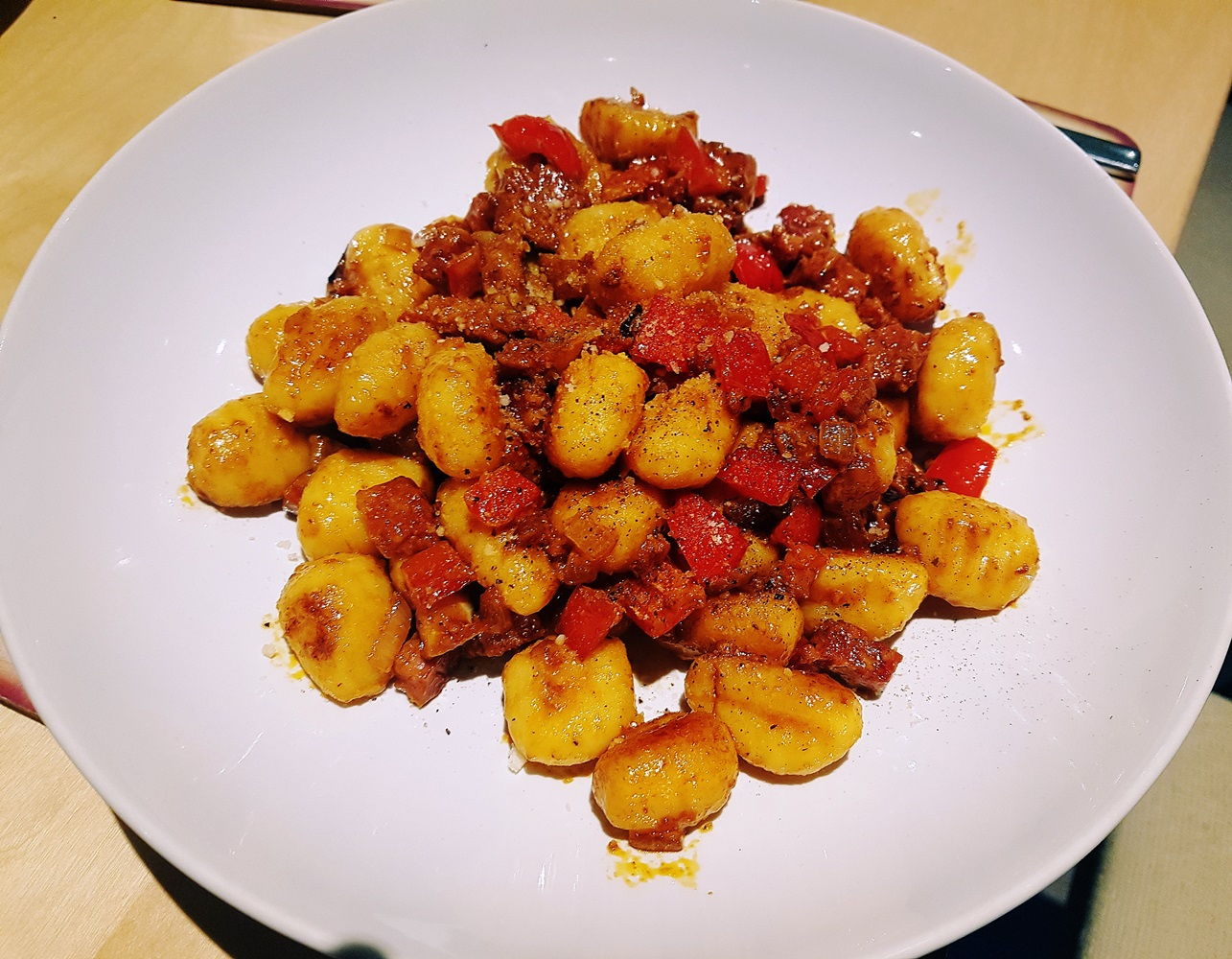 Chorizo gnocchi, made with produce from Kirkgate Market in Leeds