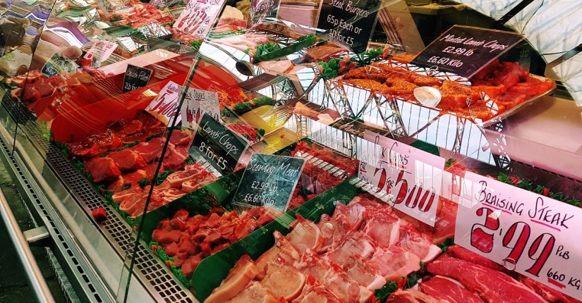 A weekly shop at Kirkgate Market in Leeds