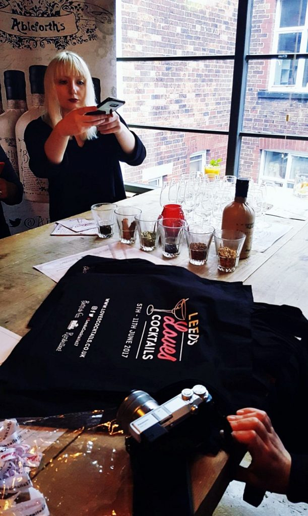 Taking blogger photosl - Leeds Loves Cocktails Press Launch with BeckyBecky Blogs