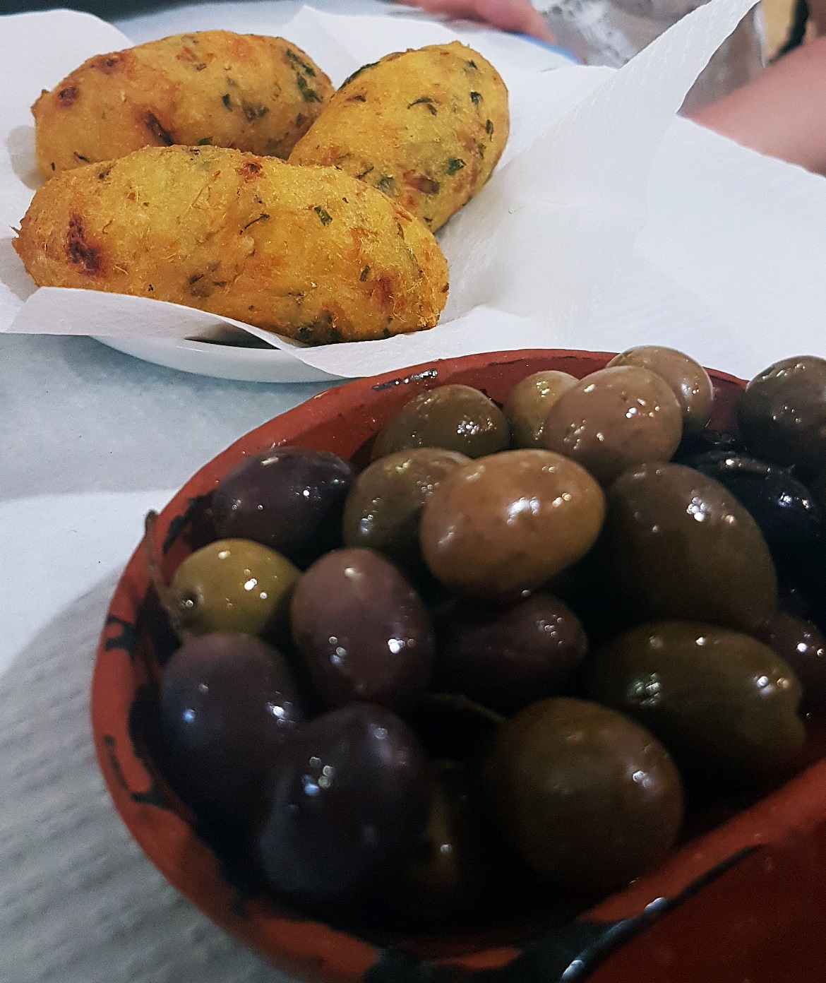 Olives and cod fishcakes at Restaurant de Calçada - Food and Drink in Lisbon, review by BeckyBecky Blogs