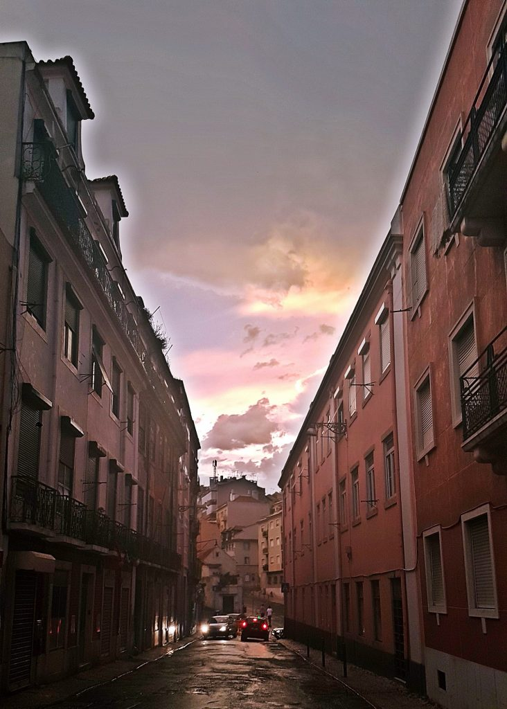 Post rainstorm sky in Lisbon - Things to Do in Lisbon, Portgual, travel blog by BeckyBecky Blogs