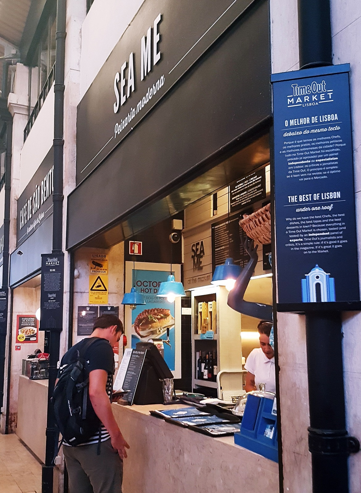 A food stall at Time Out Market - Food and Drink in Lisbon, review by BeckyBecky Blogs