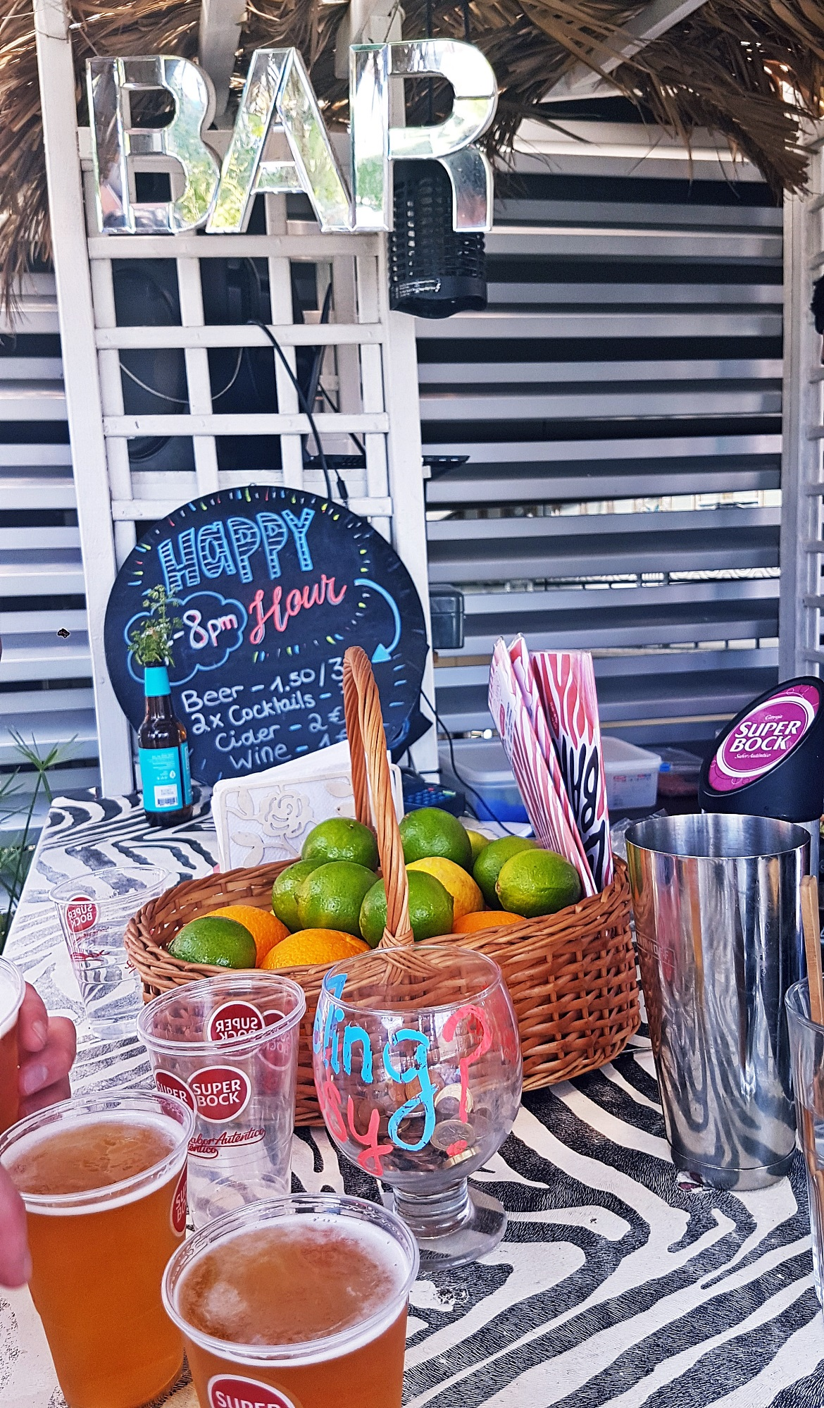 Cheap drinks at the rooftop bar - Tips for visiting Lisbon by BeckyBecky Blogs